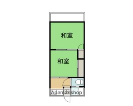 加持アパート[2K/31m2]の間取図