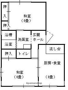 ラフォーレ東さわらご[2DK/43.75m2]の間取図