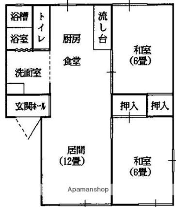 ラフォーレ大前5[2LDK/50.78m2]の間取図