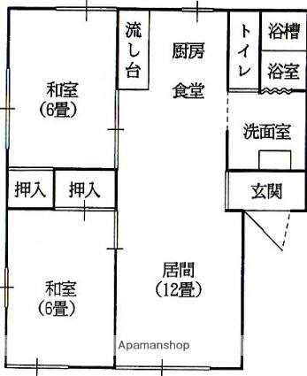 ラフォーレ五十部6[2LDK/50.78m2]の間取図