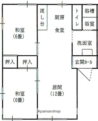 ラフォーレ西新井B[2LDK/50.78m2]の間取図