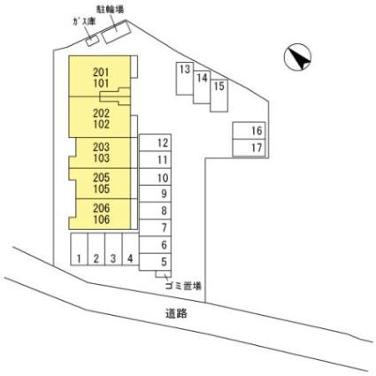 栃木県足利市山川町[2LDK/63.62m2]の配置図