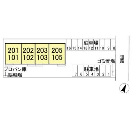 栃木県足利市福富町[2LDK/60.28m2]の配置図
