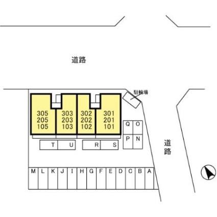 栃木県足利市山川町[1LDK/44.32m2]の配置図