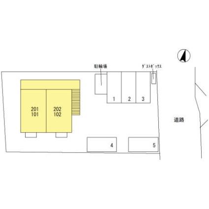 栃木県足利市堀込町[1LDK/33.61m2]の配置図