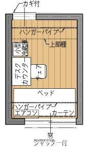 シェアードハウス六花[1R/6m2]の間取図
