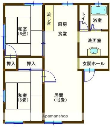 ラフォーレ福居5A[2LDK/50.78m2]の間取図