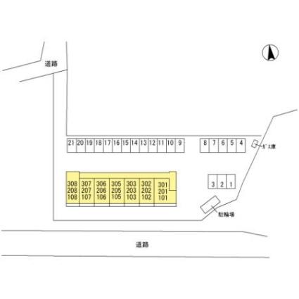 栃木県佐野市鐙塚町[1LDK/37.14m2]の配置図
