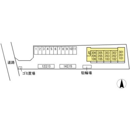 栃木県佐野市高萩町[1R/33.67m2]の配置図