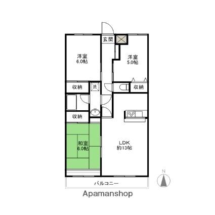 シンワマンション[3LDK/68.04m2]の間取図