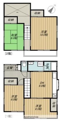 新前橋町一般住宅[4DK/77m2]の間取図