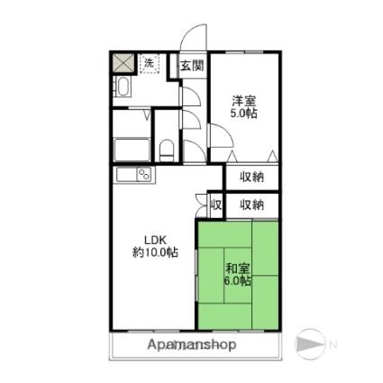 メゾンプルミエ(元総社町)[2LDK/52.8m2]の間取図