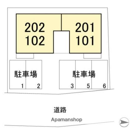 プルミエカーム[1LDK/42.14m2]の配置図