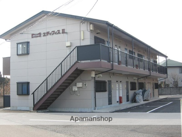 群馬県伊勢崎市、国定駅徒歩34分の築17年 2階建の賃貸アパート