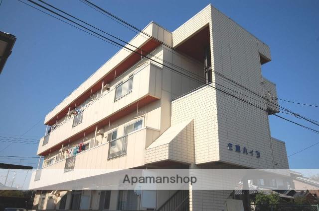 群馬県高崎市、高崎駅徒歩23分の築33年 3階建の賃貸アパート