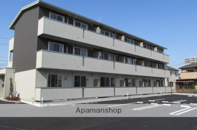 群馬県高崎市、高崎問屋町駅徒歩4分の築1年 3階建の賃貸アパート