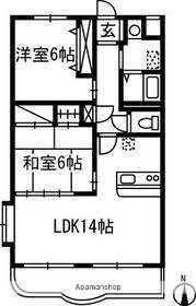 群馬県高崎市下小鳥町[2LDK/56.31m2]の間取図
