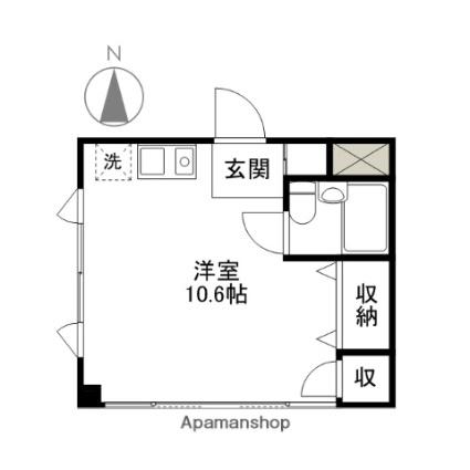 東亜ビル[1R/23.85m2]の間取図