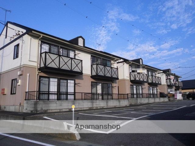 群馬県前橋市、前橋駅バス21分時沢学校前下車後徒歩9分の築21年 2階建の賃貸アパート