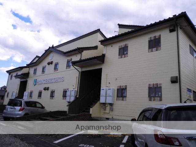 群馬県渋川市、金島駅徒歩84分の築24年 2階建の賃貸アパート