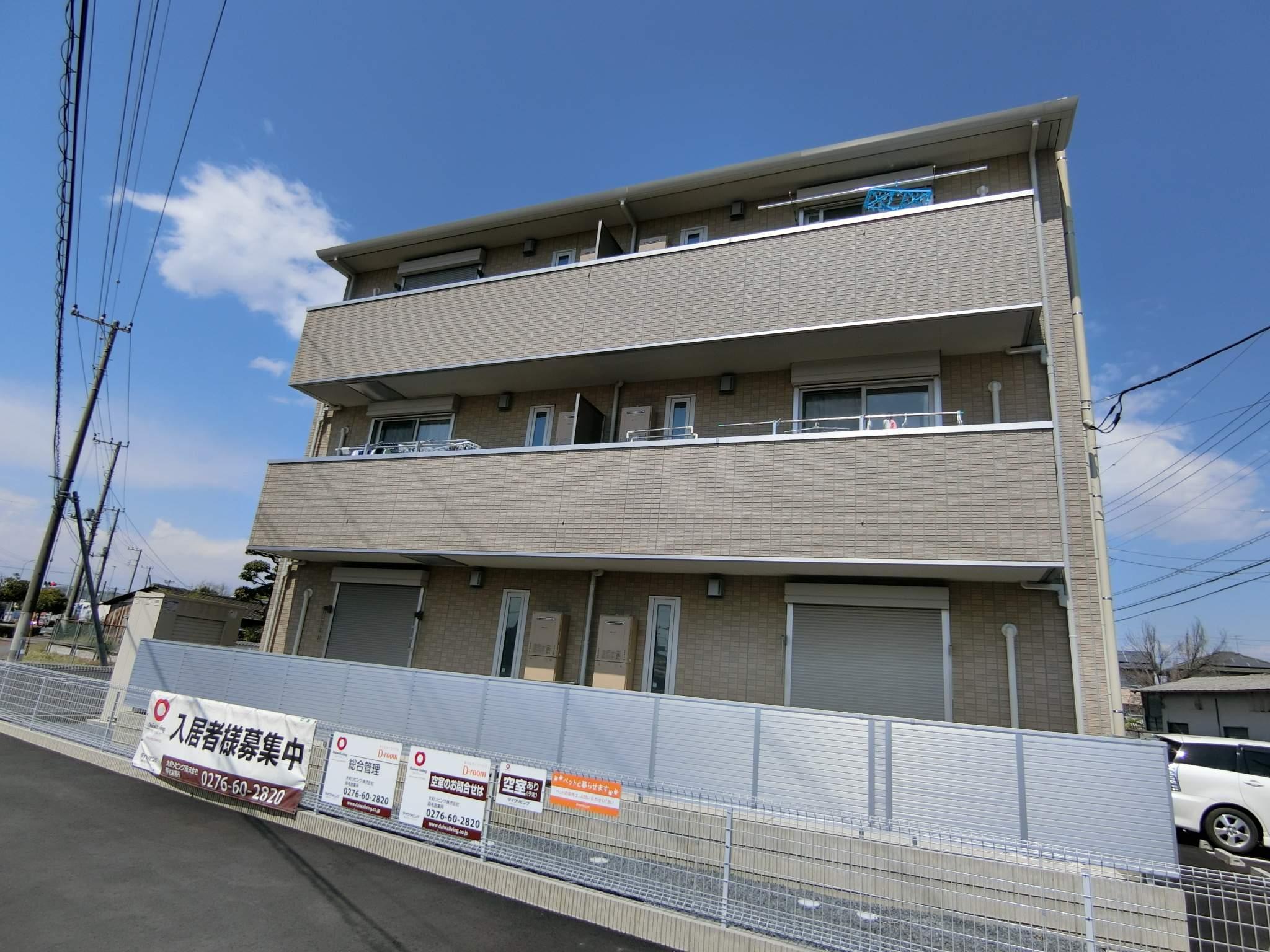 群馬県太田市、韮川駅徒歩30分の新築 3階建の賃貸アパート