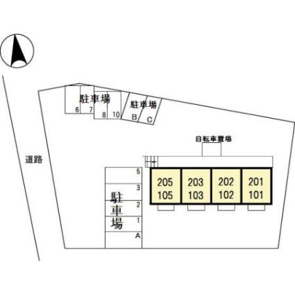 アクア・コーチェ[1LDK/35.1m2]の配置図