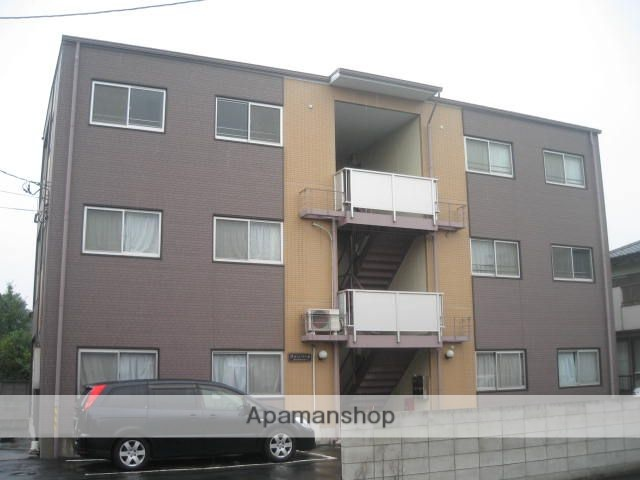 埼玉県上尾市、上尾駅バス10分小敷谷下車後徒歩10分の築19年 3階建の賃貸マンション