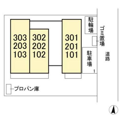 ポロニアガーデン[1LDK/37.25m2]の配置図