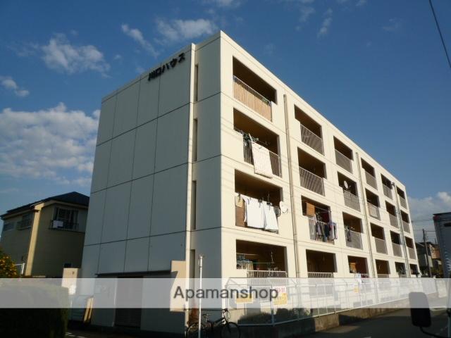 埼玉県川口市、鳩ヶ谷駅徒歩22分の築40年 4階建の賃貸マンション