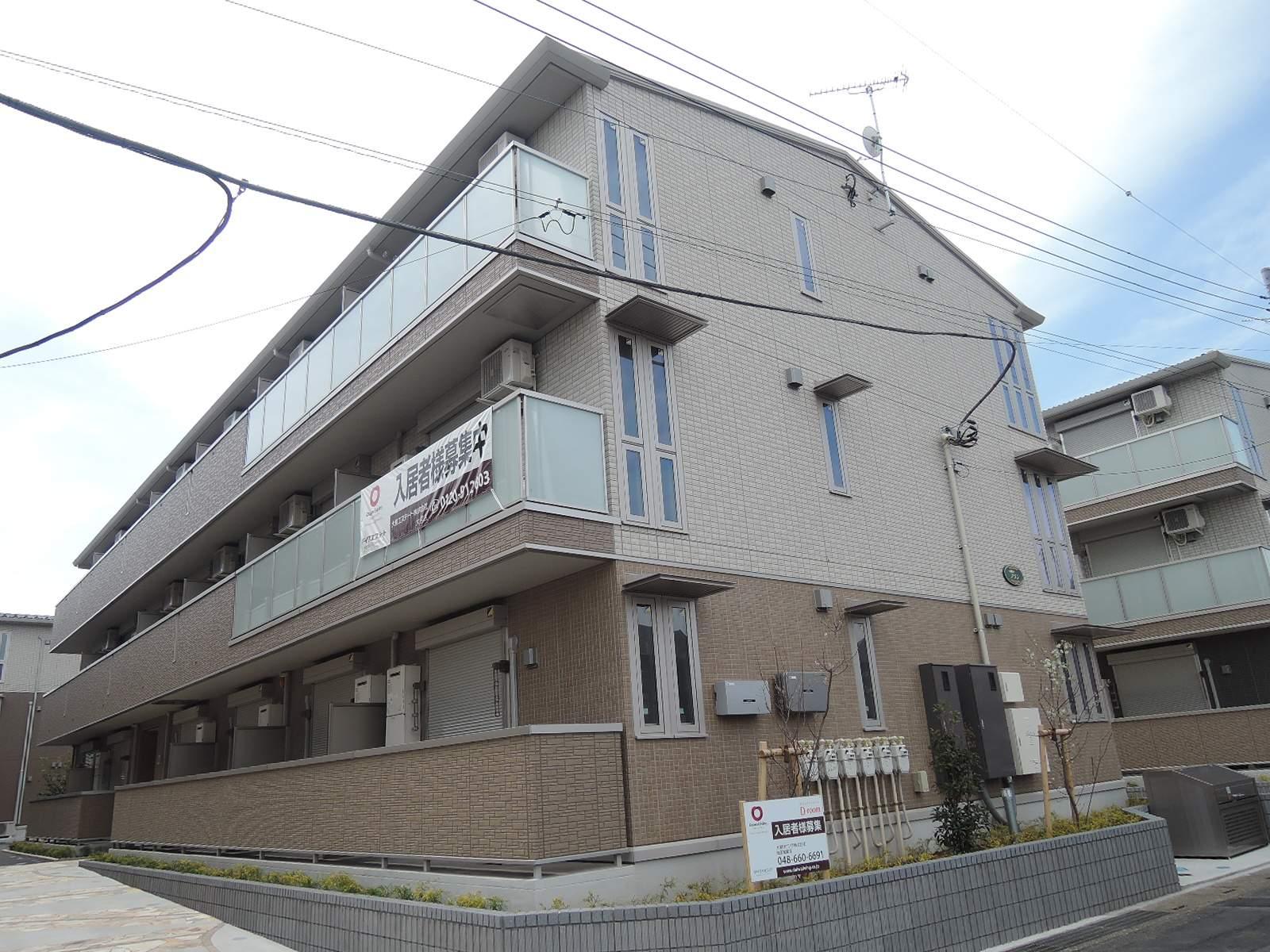 埼玉県さいたま市北区、東大宮駅徒歩23分の新築 3階建の賃貸アパート