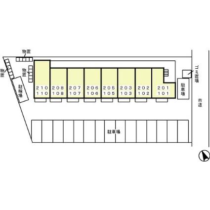 埼玉県さいたま市大宮区三橋1丁目[1K/29.81m2]の配置図