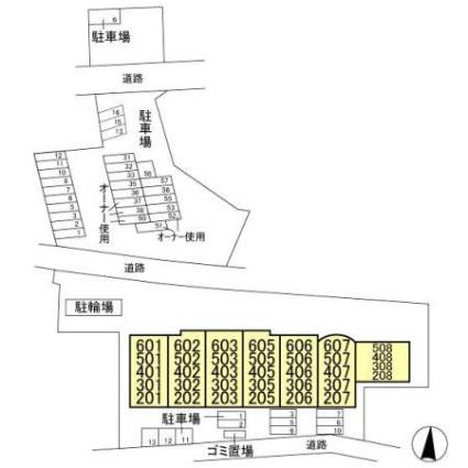 埼玉県さいたま市大宮区三橋1丁目[4DK/70.87m2]の配置図