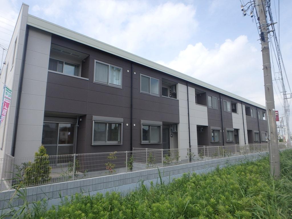 埼玉県越谷市、大袋駅徒歩10分の築2年 2階建の賃貸アパート
