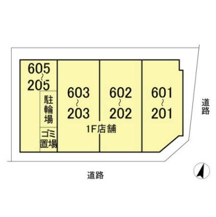 埼玉県さいたま市大宮区桜木町1丁目[1LDK/47.39m2]の配置図