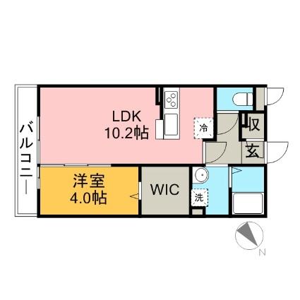 埼玉県さいたま市大宮区堀の内町3丁目[1LDK/37.37m2]の間取図