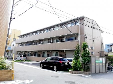 埼玉県草加市、竹ノ塚駅徒歩23分の築5年 3階建の賃貸アパート