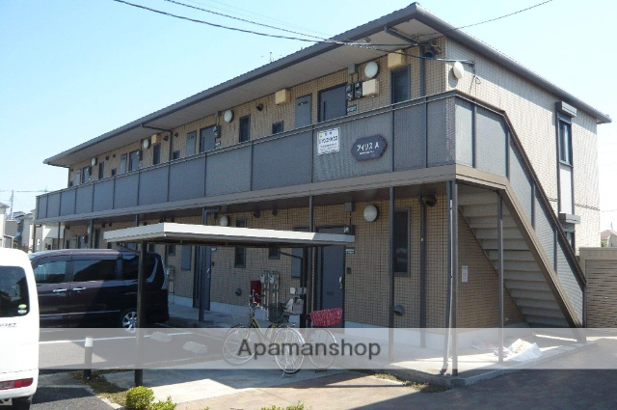 埼玉県草加市、谷塚駅徒歩18分の築13年 2階建の賃貸アパート