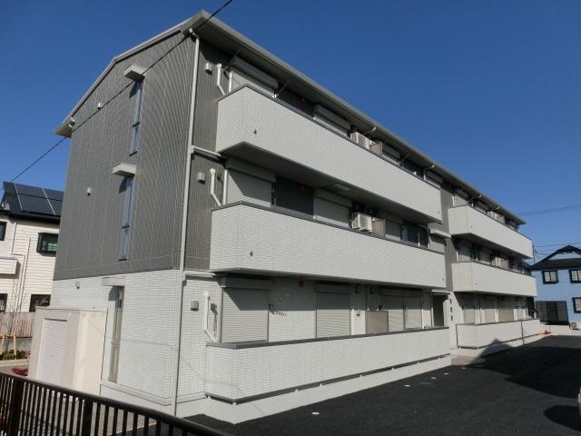 埼玉県草加市、舎人駅徒歩17分の築3年 3階建の賃貸アパート