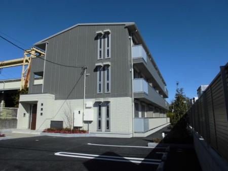 埼玉県草加市、見沼代親水公園駅徒歩17分の新築 3階建の賃貸アパート