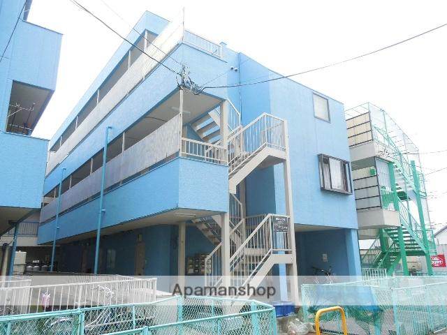 埼玉県草加市、松原団地駅徒歩13分の築28年 3階建の賃貸マンション