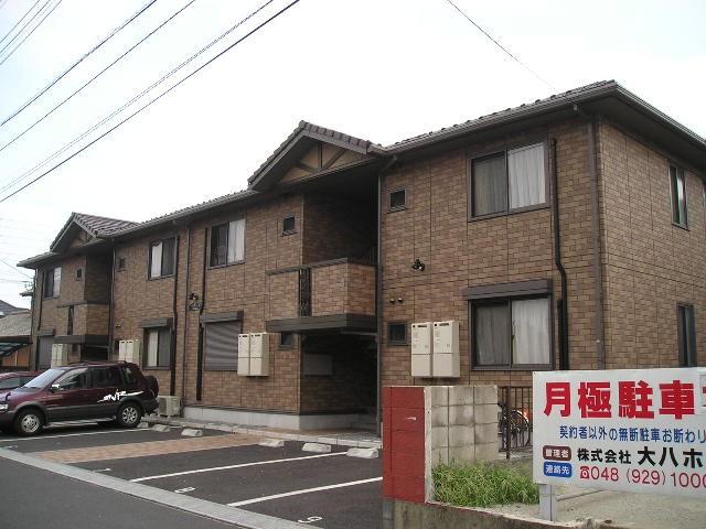 埼玉県八潮市、草加駅バス15分伊草下車後徒歩5分の築15年 2階建の賃貸アパート