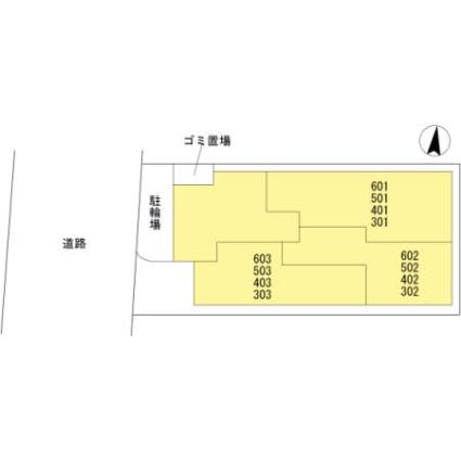 埼玉県さいたま市大宮区桜木町1丁目[1R/25.51m2]の配置図