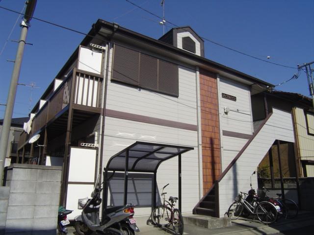 埼玉県さいたま市見沼区、大宮駅バス10分八幡下車後徒歩2分の築23年 2階建の賃貸アパート
