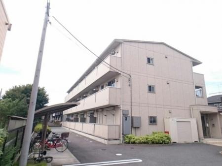 埼玉県越谷市、北越谷駅徒歩27分の築7年 3階建の賃貸アパート