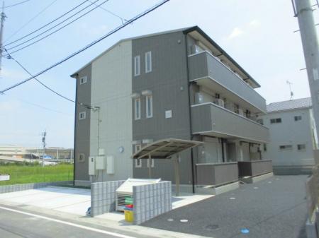埼玉県越谷市、越谷レイクタウン駅徒歩15分の築1年 3階建の賃貸アパート