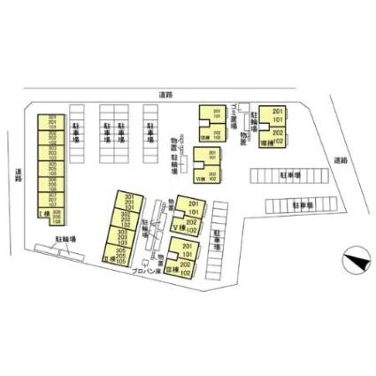 リビングゲートシティ Ⅵ[2LDK/53.76m2]の配置図