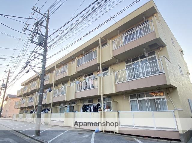 埼玉県川口市、蕨駅徒歩5分の築33年 3階建の賃貸マンション