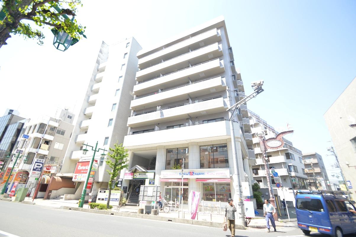 埼玉県川口市、蕨駅徒歩3分の築27年 8階建の賃貸マンション