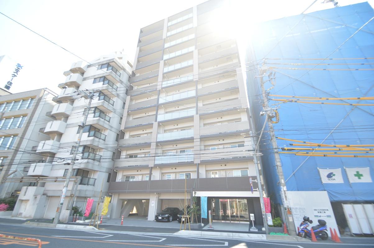 埼玉県川口市、蕨駅徒歩4分の築3年 12階建の賃貸マンション