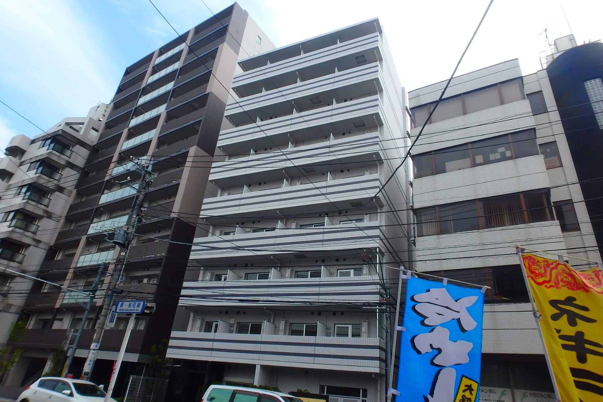 埼玉県川口市、蕨駅徒歩4分の築2年 9階建の賃貸マンション